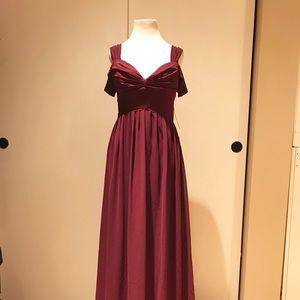Lulus MAKE ME MOVE BURGUNDY MAXI DRESS